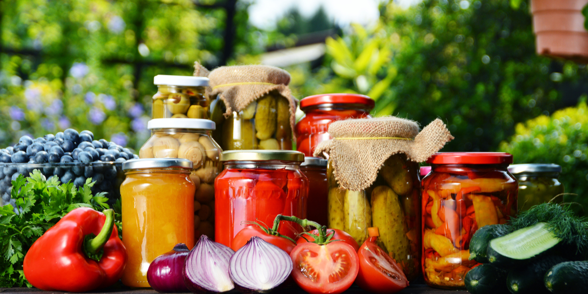 garden for canning and preserving