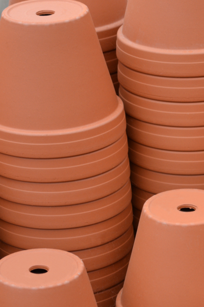 planters with drain holes