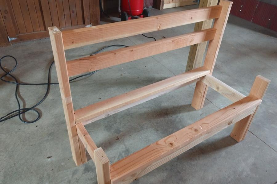 classic park bench