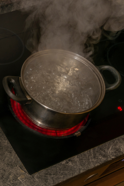 boiling water to kill weeds