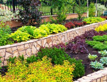 mulching flowerbeds