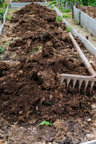 recharging raised bed soil