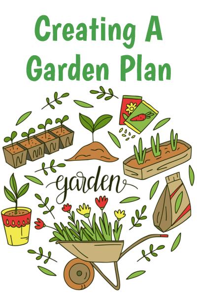 garden plan on paper