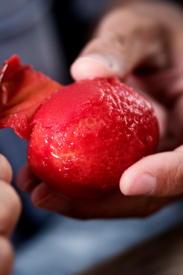 removing tomato skins